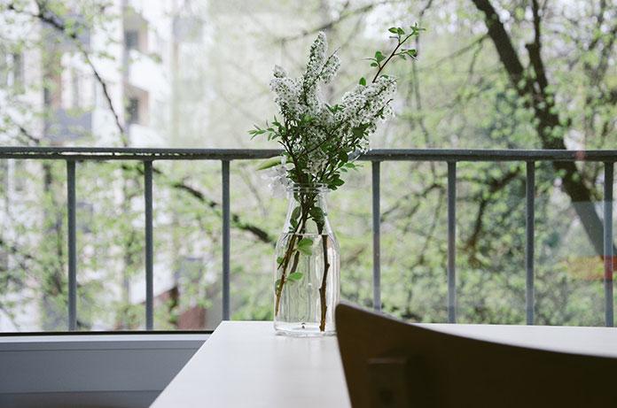 Balkon a ogród