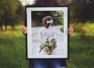 Wspomnienia ze ślubu oprawione w passe partout